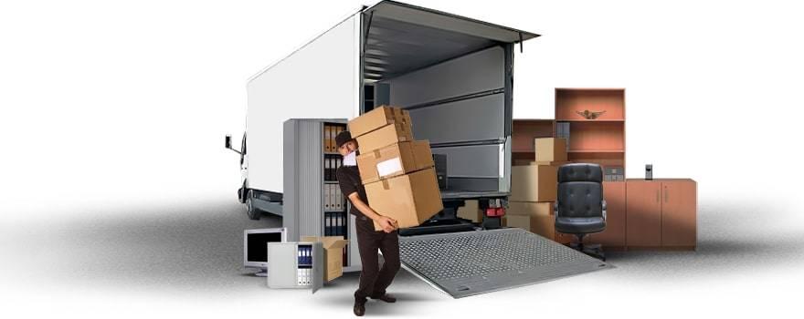 Грузоперевозка офиса - коробки с документами, мебель