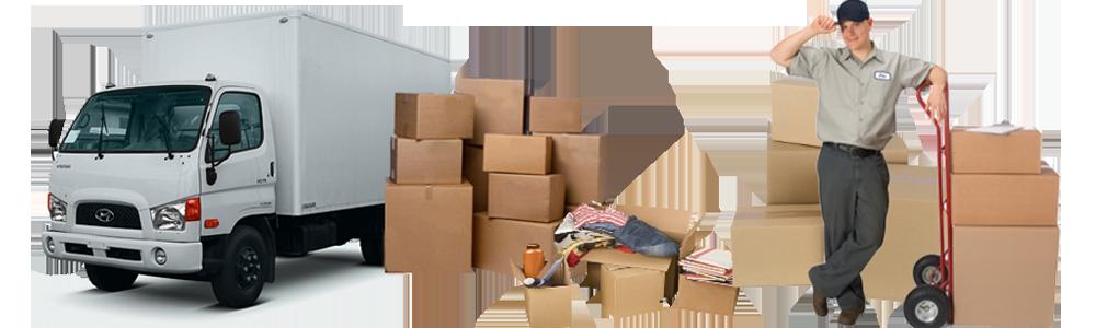 Грузовик - грузчик - коробки для переезда квартиры